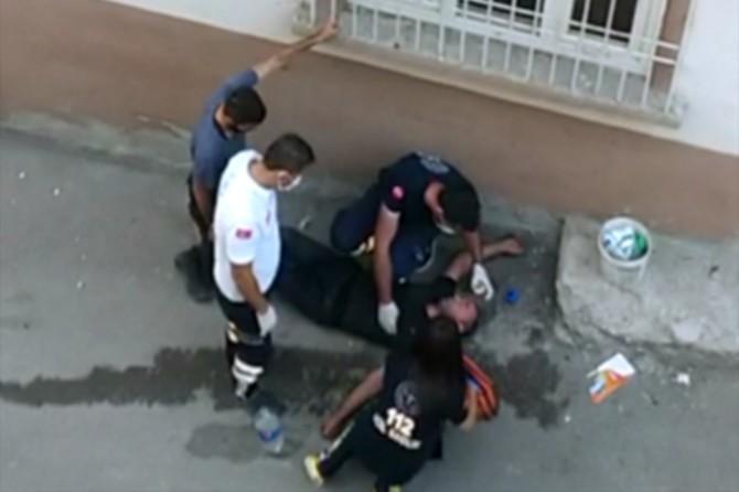 Gaziantep'te uyuşturucu kullanan şahıs sokak ortasında yere yığıldı