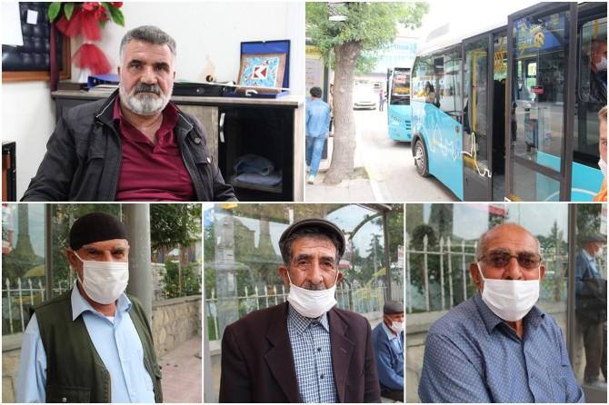 """65 yaş üstü vatandaşlardan özel halk otobüslerine """"ücretsiz ulaşım"""" tepkisi"""