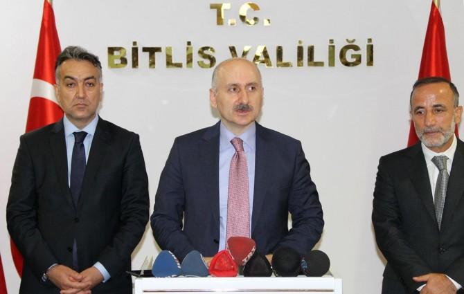 """Bakan Karaismailoğlu: """"Bitlis'e bugüne kadar yaptığımız projenin miktarı 7 milyarı geçti"""""""