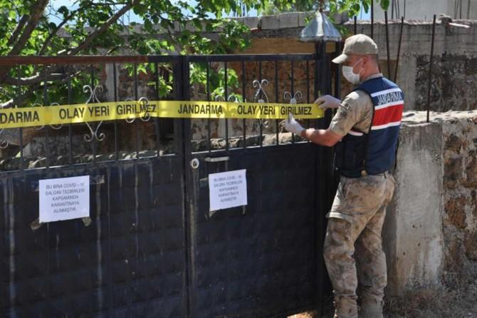 Gaziantep'te 8 ev karantinaya alındı