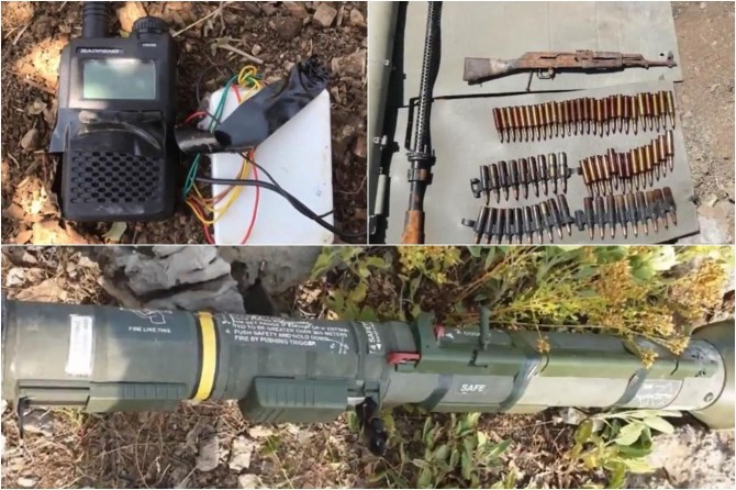 Pençe-Kaplan Operasyonu'nda PKK'ye ait mühimmat ele geçirildi