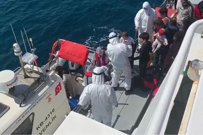 Ege sularında 40 düzensiz göçmen kurtarıldı