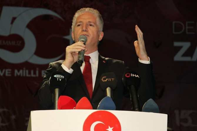 """Gaziantep Valisi Gül: """"15 Temmuz milletin zaferidir, bu süreci sulandırmayacağız"""""""