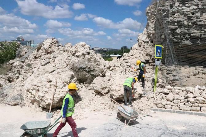 Edirnekapı'da yıkılan surlar için restorasyon çalışması başladı