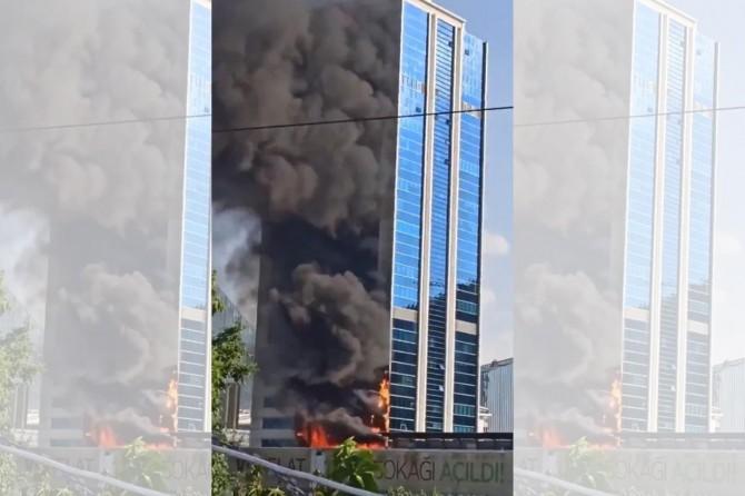 Ankara'da iş merkezinde yangın
