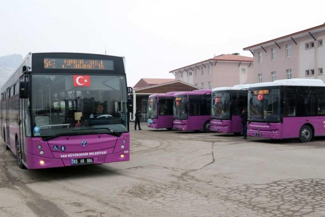 Van'da Kurban Bayramı boyunca otobüsler ücretsiz olacak