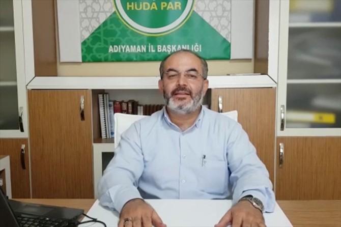 HÜDA PAR Adıyaman İl Başkanı Yetiş'ten Kurban Bayramı mesajı