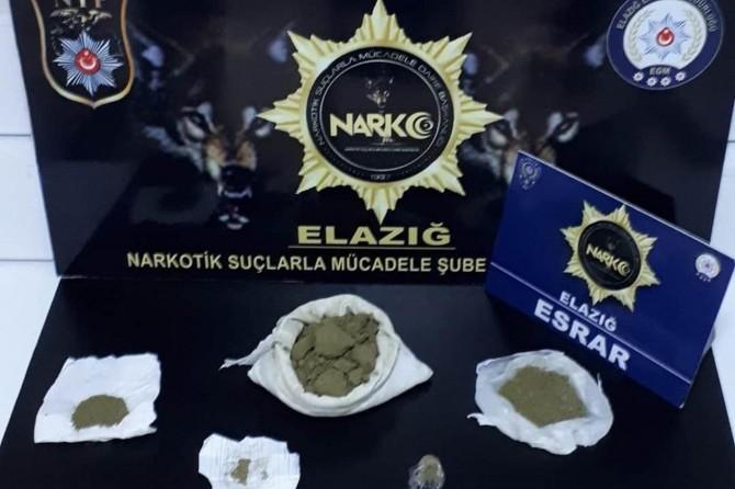 Elazığ'da uyuşturucu operasyonundan 2 kişi tutuklandı