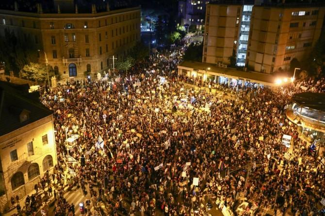 İşgal altındaki topraklarda Netanyahu karşıtı gösteriler sürüyor