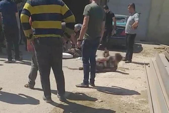 Gaziantep'te fabrikadaki patlamanın şiddeti güvenlik kamerasına yansıdı