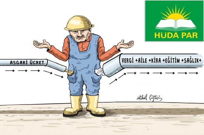HÜDA PAR'dan asgari ücret açıklaması