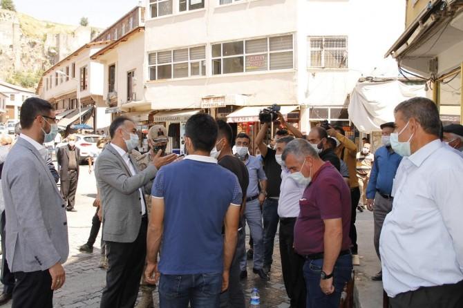 Bitlis'te Covid-19 denetimlerinde maske, mesafe ve temizlik uyarısında bulunuldu