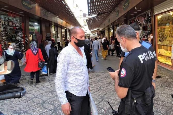 Gaziantep'te maske ve sosyal mesafe denetimleri devam ediyor
