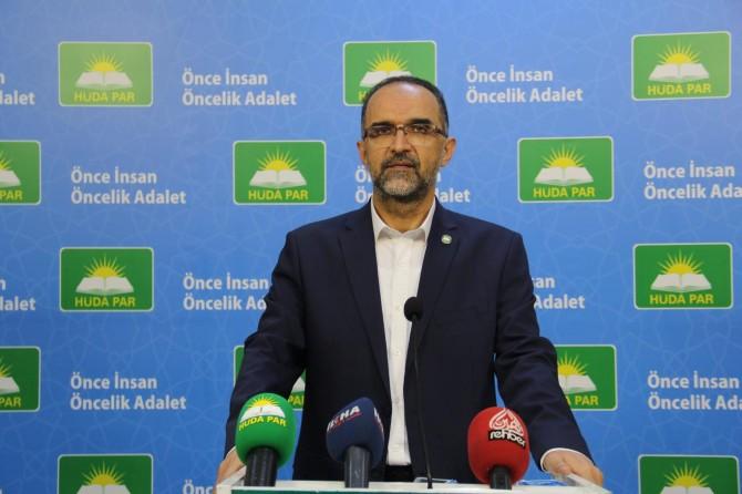 """HÜDA PAR Genel Başkanı Sağlam: """"TL'nin değer kaybetmesi endişe vericidir"""""""