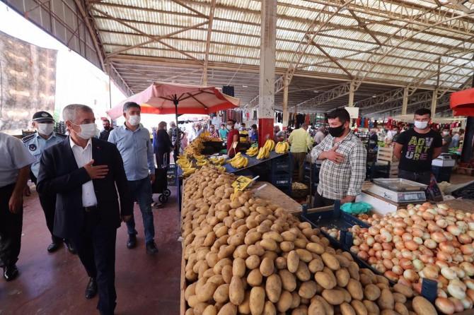 Gaziantep'te semt pazarları denetlendi