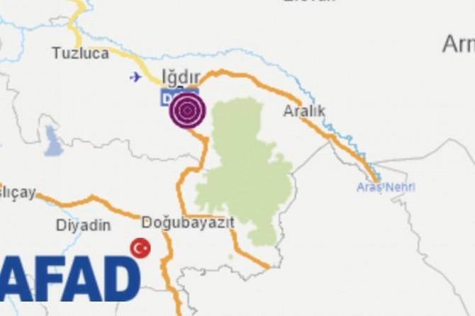 Iğdır'da 4,4 büyüklüğünde deprem