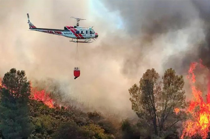 ABD'de çıkan yangında 100'den fazla ev ve binlerce araç kül oldu