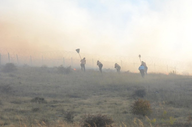 Malatya'da dağlık alanda çıkan yangına ilişkin 2 kişi gözaltına alındı