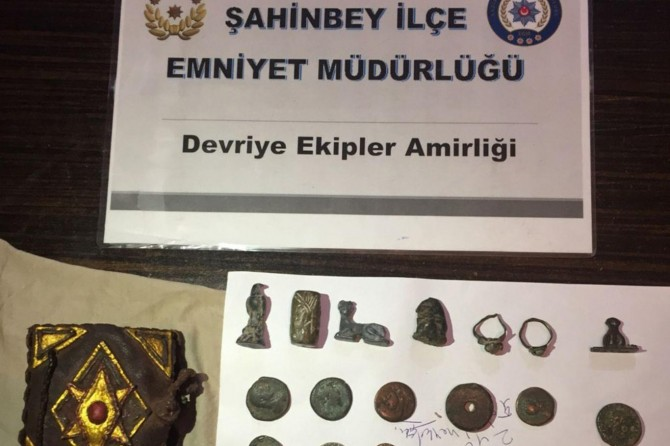 Gaziantep'te tarihi eser operasyonu: 1 gözaltı