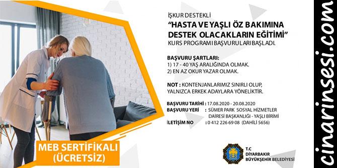 Diyarbakır Büyükşehir Belediyesinden yaşlı ve hasta bakımı kursu