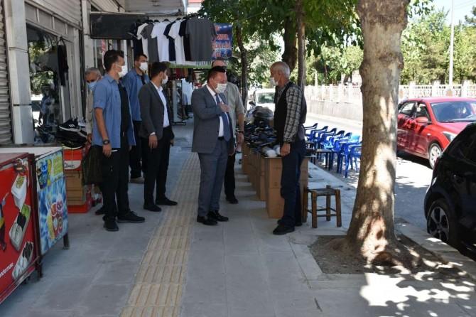 Esnaftan Bağlar Belediye Başkanı Beyoğlu'na hizmet teşekkürü