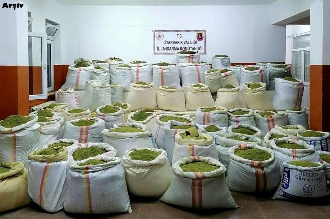 Lice'de 5 ton esrar ile 14 milyon kök kenevir ele geçirildi