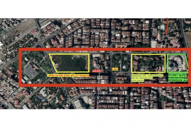 Diyarbakır'a 45 dönümlük millet bahçesi projesi