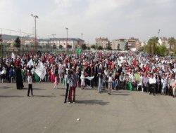 Antalya'da on binler kutlu sevdaya durdu