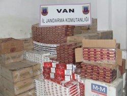 Van'da 114 bin paket kaçak sigara yakalandı