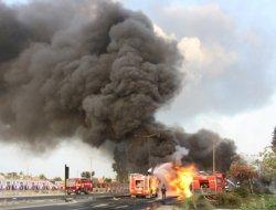 Tarsus'taki tanker kazası MOBESE'de