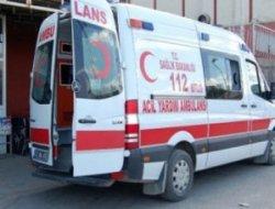 Eğil'de otomobil şarampole yuvarlandı: 5 yaralı