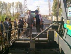 Erciş'te asfaltlama çalışmalarına hız verildi