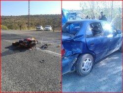 Yukarıkonak köyünde kaza : 1 ağır yaralı