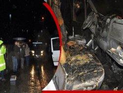 Çukurca'da Ak Partili başkanın aracına molotof