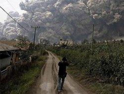 Yanardağın patlama görüntüleri! video