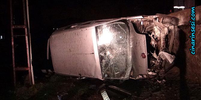 Çınar'da trafik kazası: 1 ölü, 2 ağır yaralı