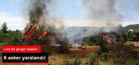 Diyarbakır Lice'de Operasyon: 5 Asker Yaralandı