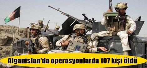 Afganistan'da operasyonlarda 107 kişi öldü