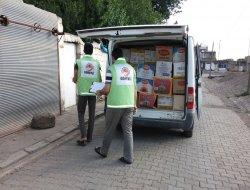 Çınar Şefkat Derden 36 aileye gıda yardımı