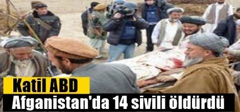 Katil ABD Afganistan'da 14 sivili öldürdü
