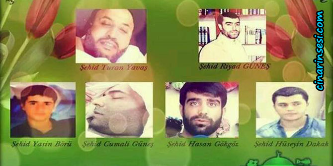 HDP/PKK Çeteleri Tarafından Şehid Edilen 5 Kardeşimiz