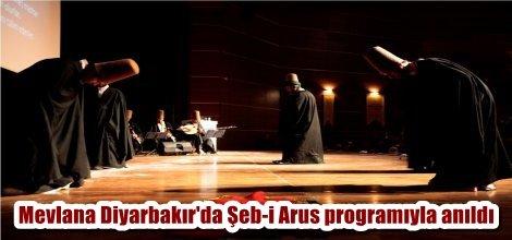 Mevlana Diyarbakır'da Şeb-i Arus programıyla anıldı