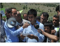 HES Barajı Kulp'ta Protesto Edildi