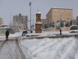 Çınar'da kar yağmadan okullar tatil edildi