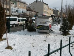 Solhan'da buzlanma kazaya neden oldu