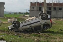 Ergani'de aşırı hız trafik kazasına neden oldu: 1 yaralı