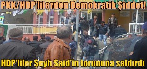 HDP'liler Şeyh Said'in torununa saldırdı