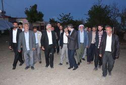 Yapıcıoğlu'nun seçim çalışmaları gece de devam ediyor foto video