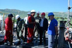 Siirt Eruh'ta Petrol sondaj çalışmaları yerin 995 metre altına indi