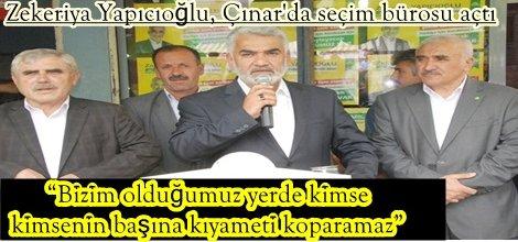 Zekeriya Yapıcıoğlu, Çınarda seçim bürosu açtı